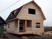 Дома из бруса сруб Эмил6×8 установка в Солигорске