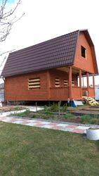 Дом сруб из бруса проект Свирь 6х6м