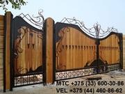 Кованые ворота,  лестница,  козырек,  решетка,  перила,  навес,  забор,  манг
